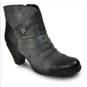 VANGELO / Ruched Ankle Dress Boot